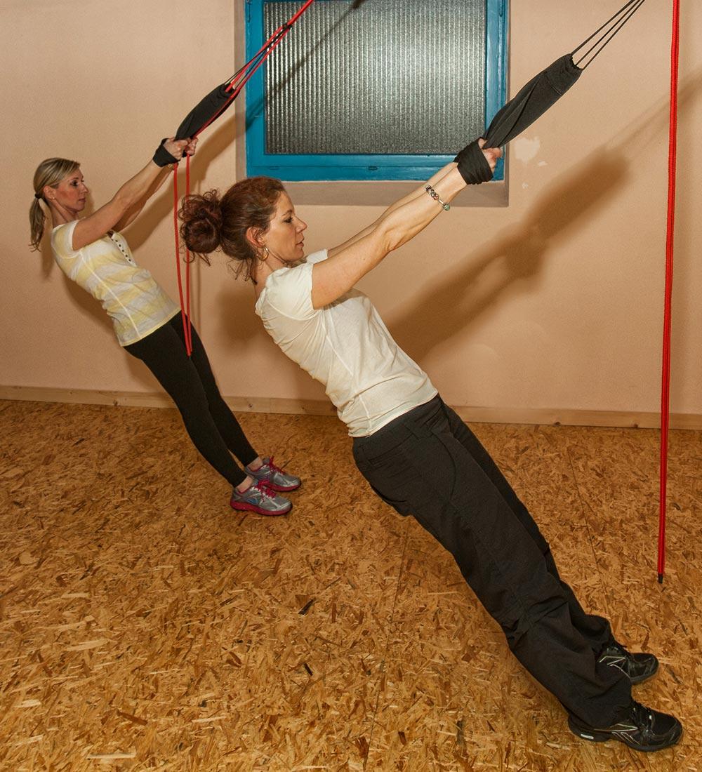 Slings Training Schlingen und Schlaufentraining Ganzkörpertraining mit dem eigenen Körpergewicht im Medisports in Hockenheim