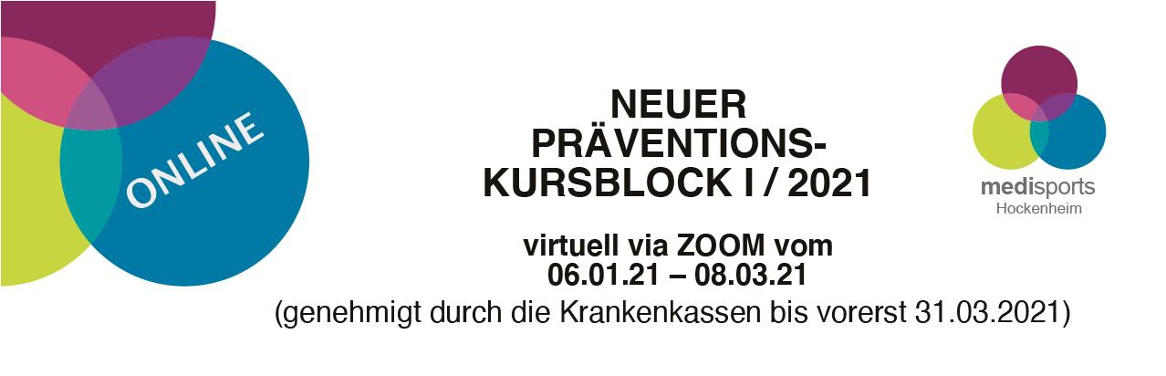 Präventionskurse ab Januar 2021